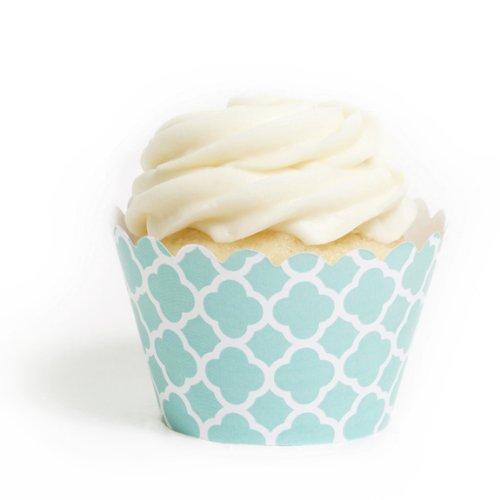 dress my Cupcake Tiffany Blau Spanische Kacheln Cupcake Wrappers, Set von 12