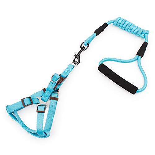 Sakuldes Perro Perro guía arnés de Cuerda de Remolque cordón de Tres Puntos para Set Collar de Entrenamiento con un Antideslizante Ajustable pequeñas y Medianas Gran Cuerda de Escalada
