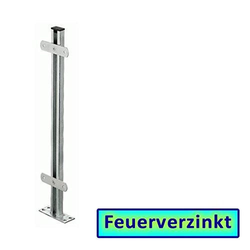 *BAUER – Zaunsäule in Stahl VZ, zum Aufdübeln, L = 1000mm*
