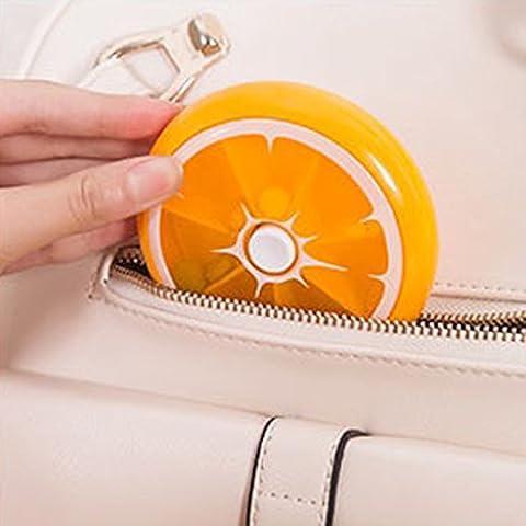 Gazechimp Mini Pill Box Tablettendose für die Speicherung Schmuck - Orange