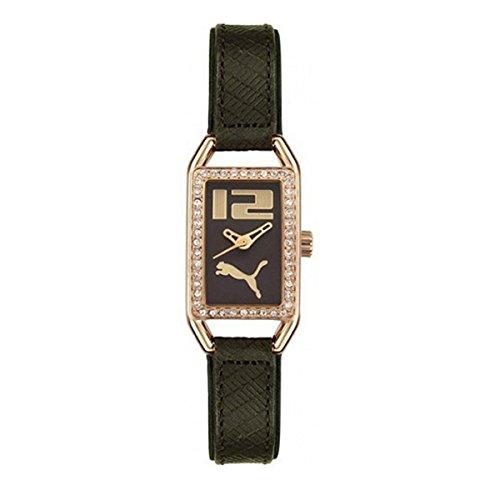 Puma Time - 4390229 - Montre Femme - Quartz - Analogique - Bracelet Cuir Noir