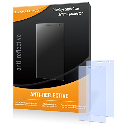 SWIDO Bildschirmschutz für Nokia Lumia 735 [4 Stück] Anti-Reflex MATT Entspiegelnd, Hoher Härtegrad, Schutz vor Kratzer/Glasfolie, Schutzfolie, Bildschirmschutzfolie, Panzerglas Folie