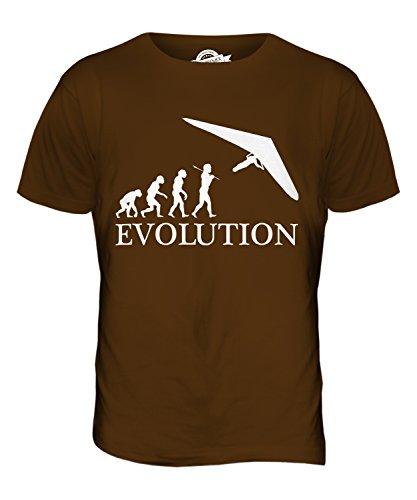 CandyMix Hängegleiter Evolution Des Menschen Herren T Shirt Braun
