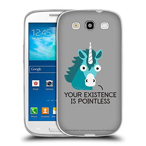 Head Case Designs Offizielle David Olenick Neighsayer Einhorn Pop Kultur Soft Gel Hülle für Samsung Galaxy S3 III I9300 I9300-gel