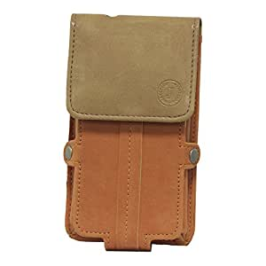 J Cover A6 Nillofer Series Leather Pouch Holster Case For xiaomi mi note2 Orange Tan