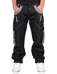 Peviani Hommes Garçons Cargo Combat Étoile Jeans G Is Time Nappy Money Noir