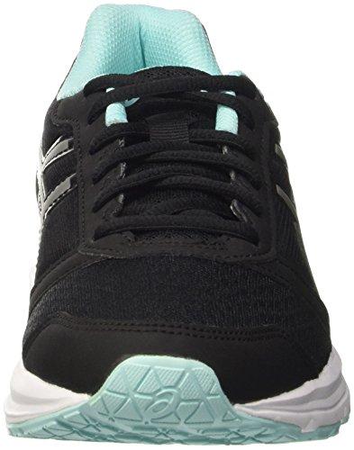 Asics Patriot 8 W, Chaussures de Sport Femme, Noir Multicolore (Black/Silver/Aruba Blue)