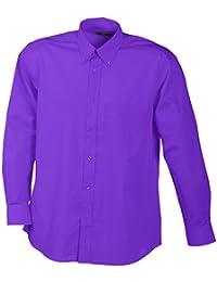 JAMES & NICHOLSON - chemise légère manches longues - repassage facile - JN600 - Homme