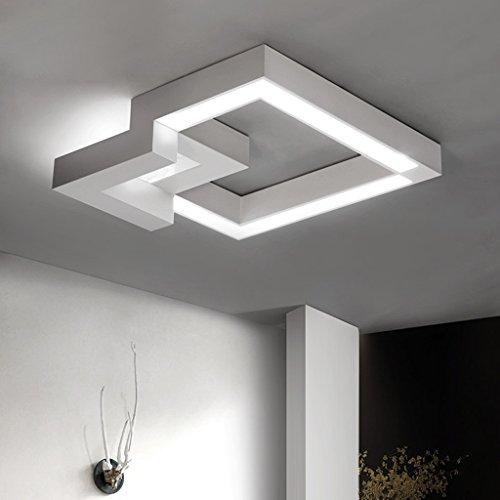 ZQL Kreative hölzerne Deckenleuchte, Wohnzimmer dekorative Deckenleuchte, Schlafzimmer warme LED-Beleuchtung (Druckschalter) ( Color : White (Hölzernen Zähne Die)