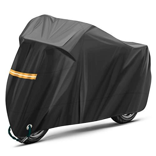 KKmoon Funda Moto Impermeable,El/ástica Tela Cubierta contra Polvo Lluivia Sol Protecci/ón UV