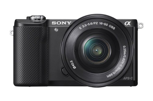 Sony Alpha A5000L 20.1MP Digital SLR Camera (Black) with 16-50 mm Lens (ILCE-5000L)