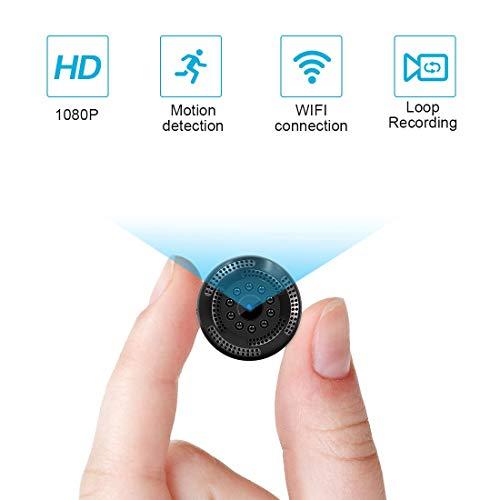 Supoggy Caméra Cachée sans Fil 1080P HD Mini Caméra Espion WiFi avec Enregistreur Vidéo /...