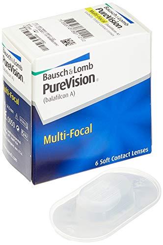 Purevision Multifocal Monatslinsen weich, 6 Stück BC 8.6 mm / DIA 14 / -9 Dioptrien / ADD Low