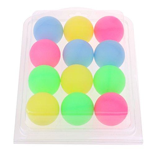 BraveWind Multicolor 40mm Bier Ping Pong Bälle Dekoration Kugeln Kunststoff Tisch Tennis Ball (nicht geeignet für Praxis oder Turnier) 12 Pcs (Bier Ping-pong-tisch)