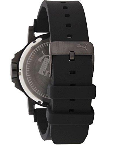 Puma Ultrasize 50 Bold Unisex Quartz Watch with Black Dial Analogue Display and Black PU Strap PU103911001