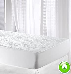 Velfont High Quality Cotton Quilted Mattress Protector / Mattress Pad.
