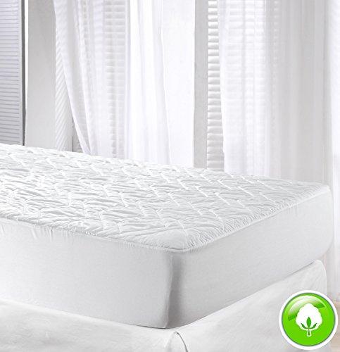 VELFONT - Gepolsterte Matratzenauflage aus 100% Baumwolle zum Wenden - verfügbar in verschiedenen Größen - 200x190/200cm