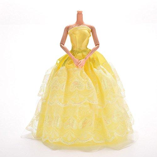 keepingup 1Stück 2Lagen Spitze Party Kleid für gewachsen Pincess Barbies