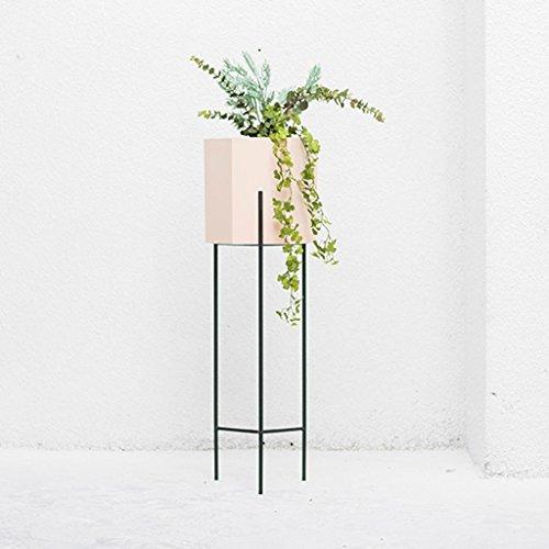 Le Petit Support De Fleur De Fer Pour Le Balcon De Salon D'intérieur Tient Le Présentoir D'étagère De Stockage D'usine ( Couleur : Rose )