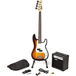 RockJam RJBG01-SK-SB Sunburst Guitare basse Super Kit
