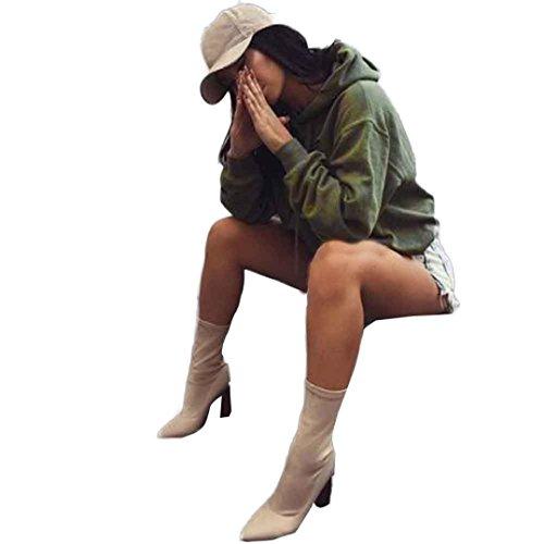 Rcool Damen Lässige kurze Hoodie Sweatshirt Pullover Pullover Muster Kapuzenpullover Sport Pulli Pullover Tops Armee-grün