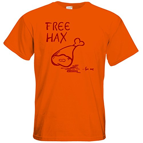 getshirts - Die Grillshow - The Shop - T-Shirt - Free Hax rot Orange