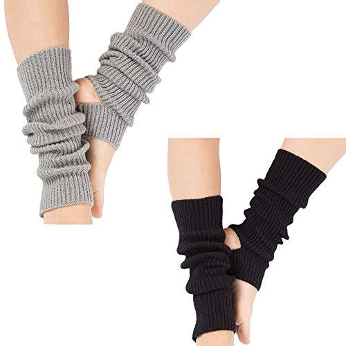 LOVARTS BEAUTY 2 Paare Damen Stulpen Gestrickte Beinwärmer Mädchen Winter Warm Knit Yogasocken für Tanz, Pilates…