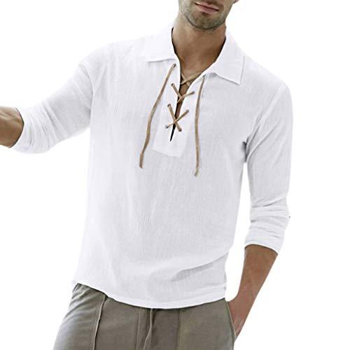 REALIKE Herren Langarm Hemden Freizeit Einfarbige Plain Hemd Slim-Fit Lange Ärmel T-Shirt Männer Streifen Taste Tops M-XXL Bequem Atmungsaktiv Leicht Viele Farben Blusen -