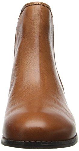 Trotters LaDue Damen Breit Rund Leder Mode-Stiefeletten Cognac