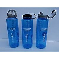 NALGENE SILO Everyday 1,5 L Blau mit OTF Einhandverschluss + 63 mm Drehverschluss 1 Flasche 2 Verschlüsse
