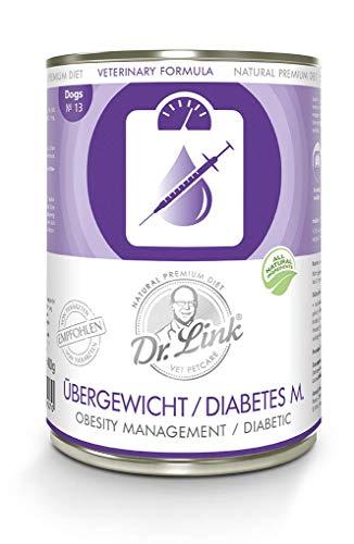 Dr. Link SPEZIAL-DIÄT Übergewicht / Diabetes mellitus I Obesity Management / Diabetic |6 x 400 g | Nassfutter für Hunde