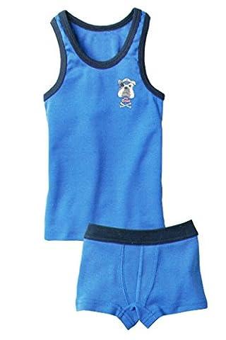 Jungen Kleinkinder Unterwäsche-Set 78611 blau - Bulldogge 98-104 (Kleinkind-jungen Set)