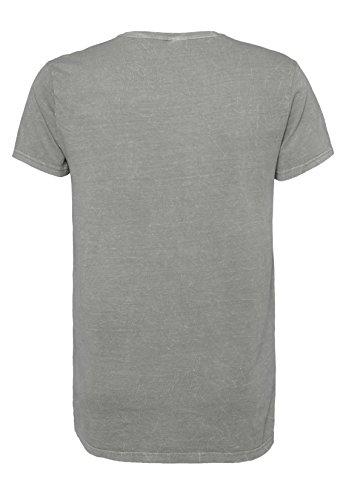 SUBLEVEL Herren Mormor-Print T-Shirt | Leichtes Regular-Fit Allover-Print Shirt aus hochwertigem Jersey Light-Grey