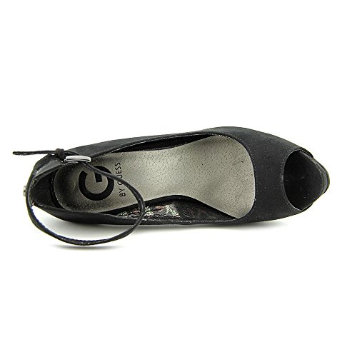 G By Guess Valora Simili daim Talons Compensés Black