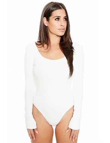 GSP-Combinaisons Aux femmes Manches Longues Sexy / Décontracté Coton / Polyester / Spandex Fin Micro-élastique gray-2xl