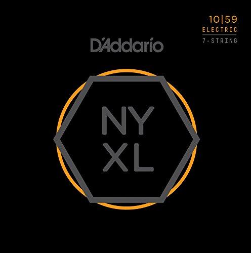 D'Addario NYXL1059 Nickel Wound 7-Saiter E-Gitarre Saitensatz, Regular Light, 10-59