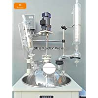 Huanyu - Reactor químico de cristal de 10 litros, motores, con baño de agua (220 V)