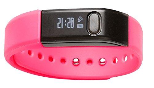 Denver BFA-10PI Fitnessarmband mit Bluetooth 4.0 (Android/iOS) pink