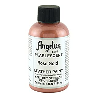 Angelus Brand Acrylic Leather Paint - Pearlescent Rose Gold (4oz)