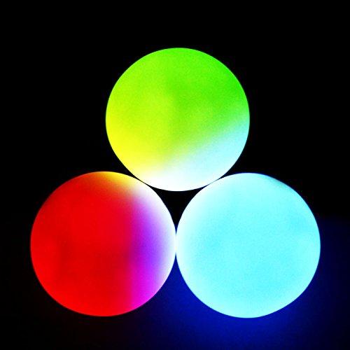 GloFX LED 9-Modus Jonglierbälle - Set von 3 - Rave EDM- Partei Licht Mehrfarbig (Licht Jonglierbälle Bis)