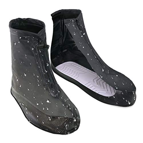 VXAR Shoes Covers Rain Snow Boots Waterproof Reusable Anti-Slip Foldable Thicken Sole Overshoes Galoshes Women Men