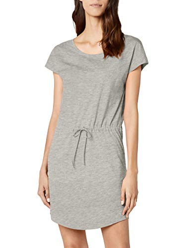 ONLY NOS Damen Kleid onlMAY S/S Dress NOOS, Grau (Light Grey Melange), 36 (Herstellergröße: S)