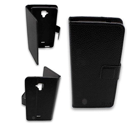 caseroxx Tasche Case Hülle Bookstyle-Case für Archos 50 Titanium 4G in schwarz