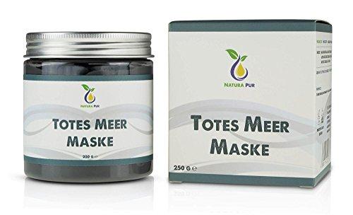 Natura Pur Totes Meer Schlamm Gesichtsmaske 250g, vegan - Anti Pickel, Mitesser Maske und gegen Akne...