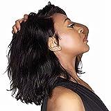Cmylbaml Bob Court Avant de Lacet Perruques Cheveux Humains Indien Vague Naturelle Aucun Noir Remy Naturel Déchiré Déchiré Blanchi Noeuds pour Femmes