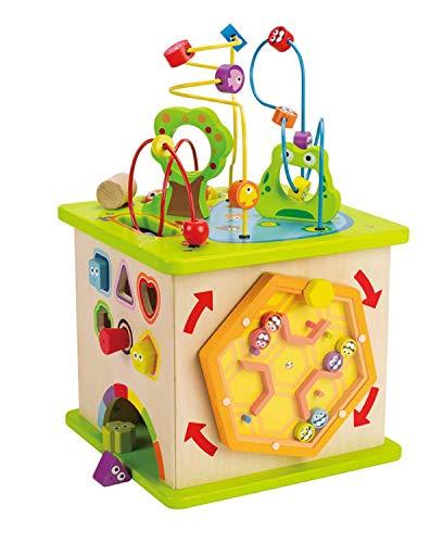 Hape Cubo Madera Infantil con Laberinto Campo (Barrutoys E1810)