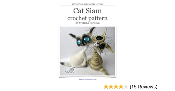 The symmetric siamese cats. | Crochet animal patterns, Crochet cat ... | 315x600