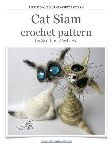 Cat Siam Crochet Pattern Amigurumi toy (LittleOwlsHut) (English -