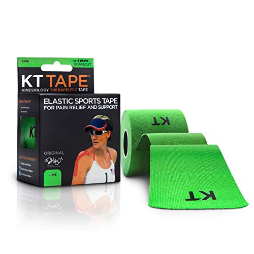 KT Tape Original 14 Strips Lime, Kinesiology Therapeutic Sports Tape, 10 Precut 14 inch Strips, Lime