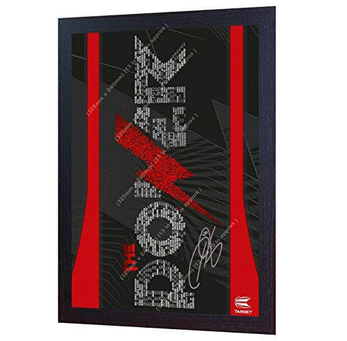 SGH SERVICES NEU! Phil Taylor The Power Darts Autogramm auf Leinwand, gerahmt, 100% Baumwolle